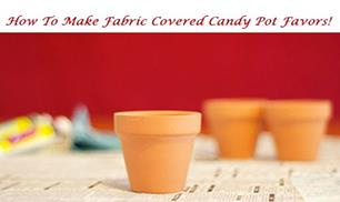 Making fabric covered terra cotta pot