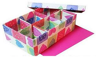 Box Organizer out of Shoe Boxes