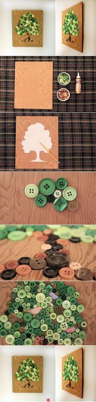20 DIY Button Wall Art82a9d5c9e