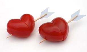 DIY Heart Shaped Cherry Tomatoes