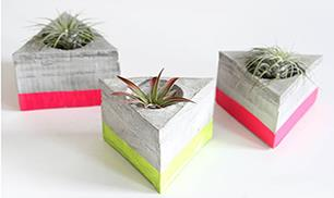 Triangle Cement Airplant Holder