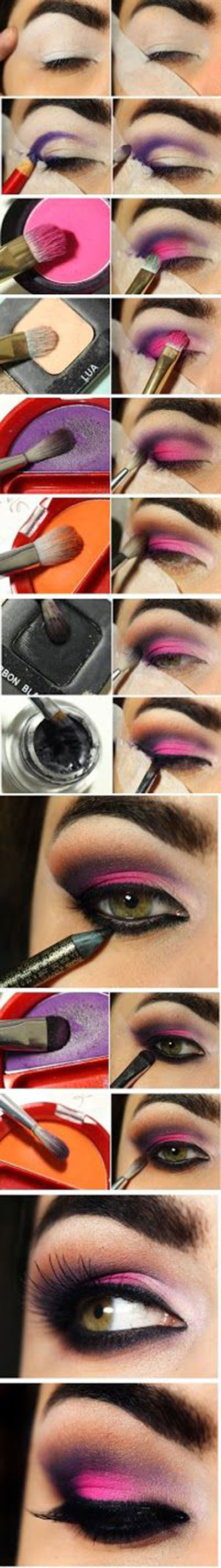 21 Pink and purple smoky eye5103fe3