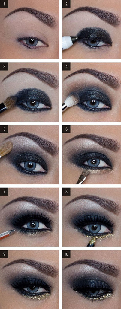 Как сделать макияж смоки айс пошаговое