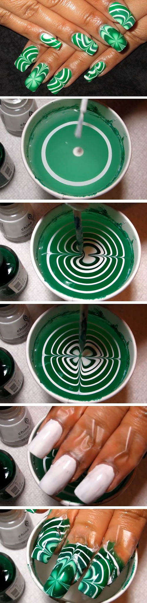 22 Water Marble Shamrocks 913a