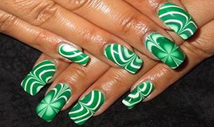 Water Marble Shamrocks