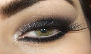 Black Shine Cat Eye Makeup Tutorials