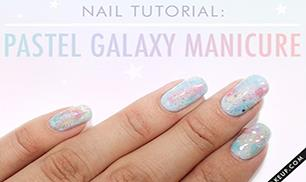 How to Create a Pastel Galaxy Manicure