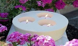 DIY Concrete Candlestick