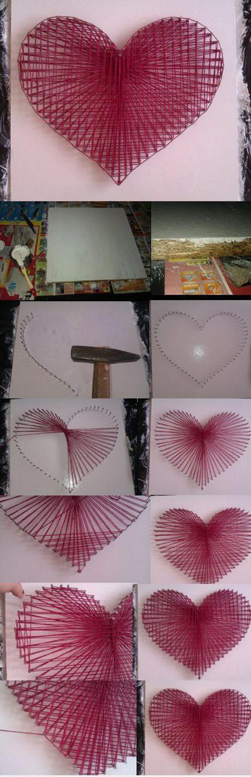 3 DIY String Heart 270a17dd