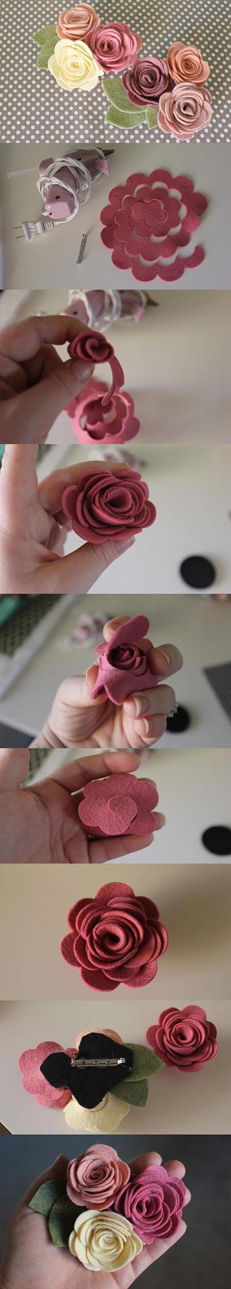3  Felt Flowers DIY1e9a37