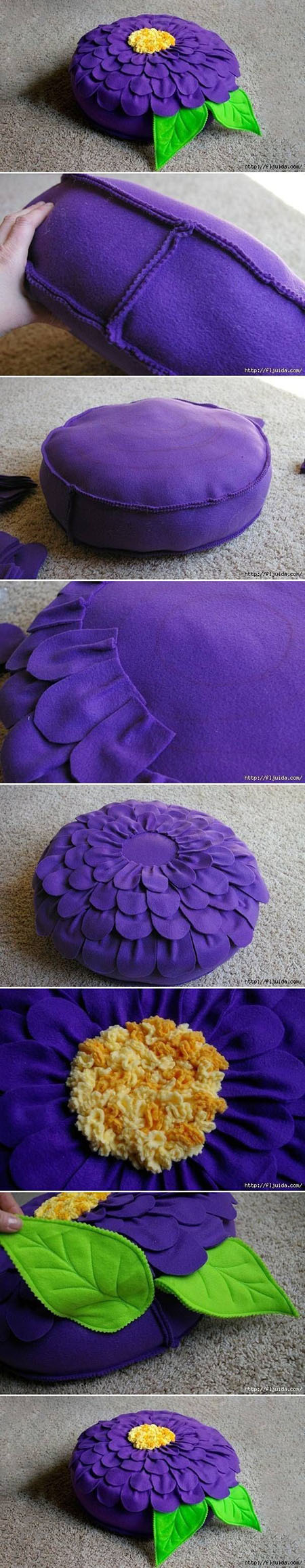 4  DIY Beautiful Flower Cushion169a