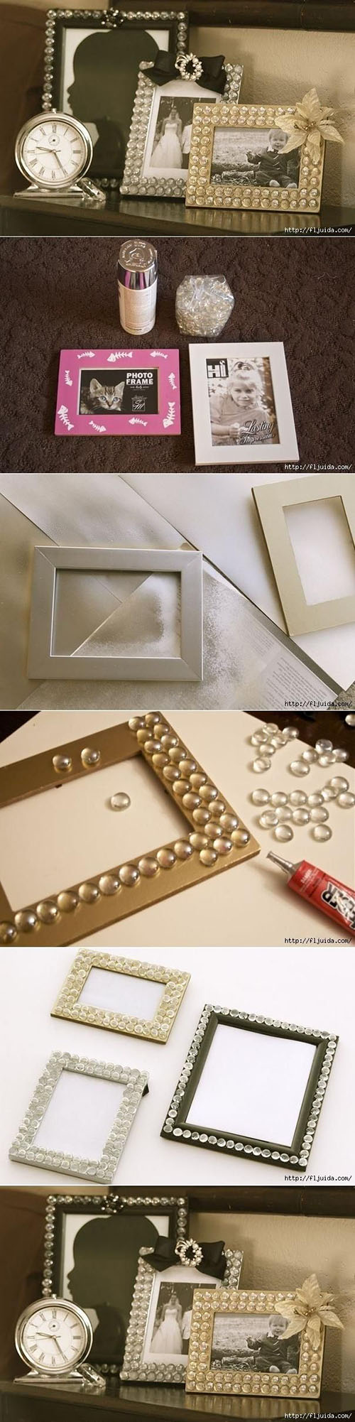5  DIY Glamorous Picture Frameaccebce