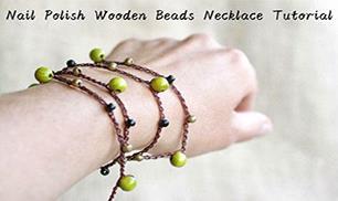 Nail Polish Wooden Beads