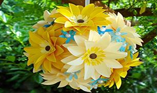 DIY Easy Paper Flower Ball in 2 Ways