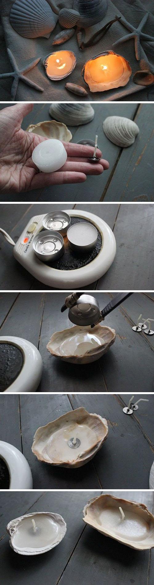 6 DIY Seashell Candlesf440fbb9