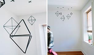 Geometric Straw Mobile