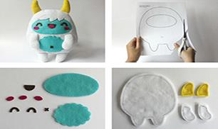 Diy Adorable Felt Yeti Monster
