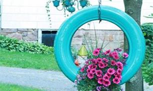 DIY Tire Planter