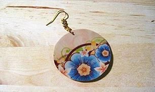DIY Clay Decoupage Earrings