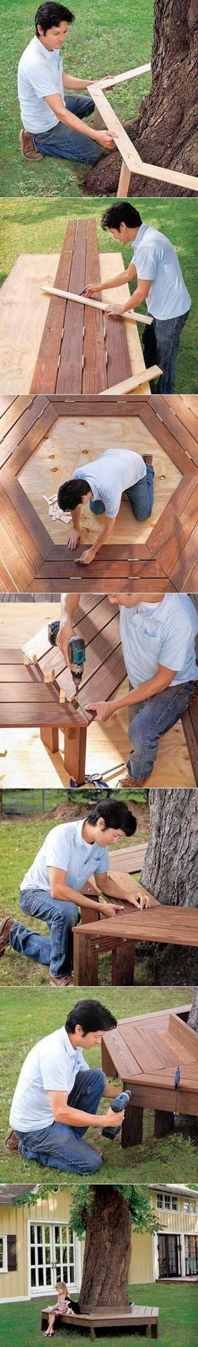 7 How to build a bench around a tree 892a677