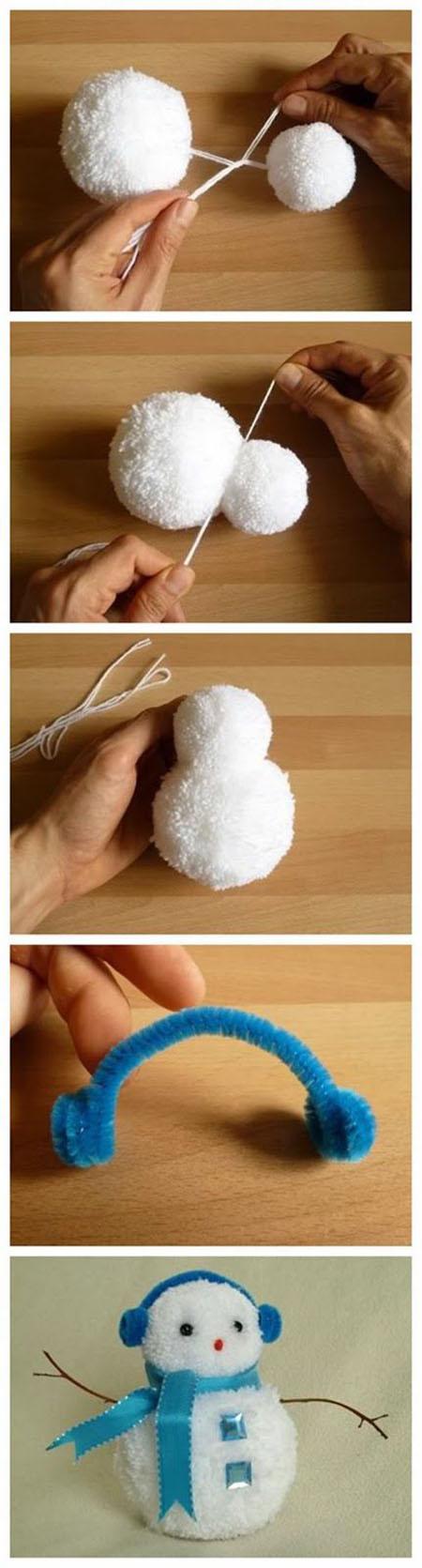 8 DIY Pom Pom Snowman dc578abd