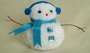 DIY Pom Pom Snowman