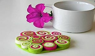 Make Rolled Felt Coasters