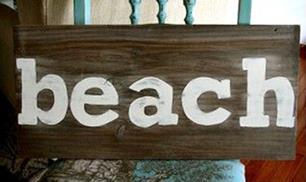 A Beach Sign
