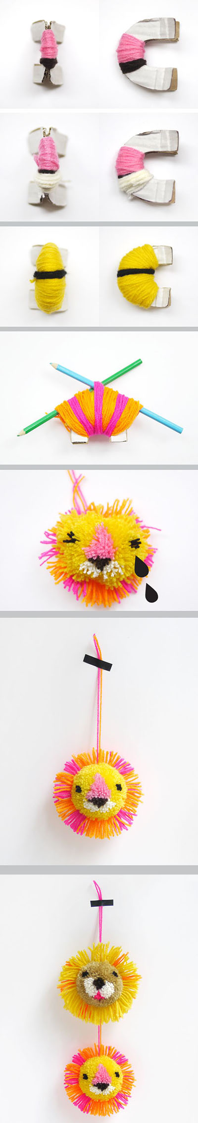 9  DIY  lion   pompomd7fe0f3bc15