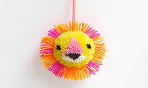Diy Cute lion Pompom