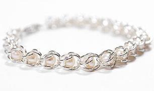 Jump Ring Caged Beads Bracelet