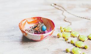 Marbled mini bowls tutorial