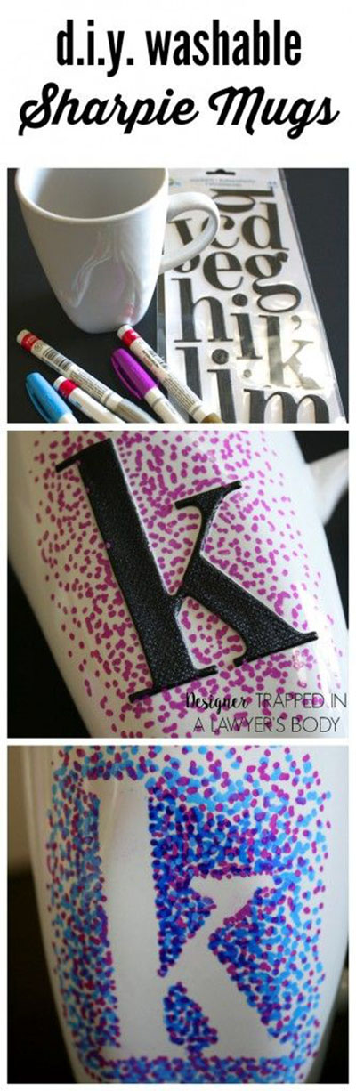 1 Easy dotted Sharpie Mugs c73b74d