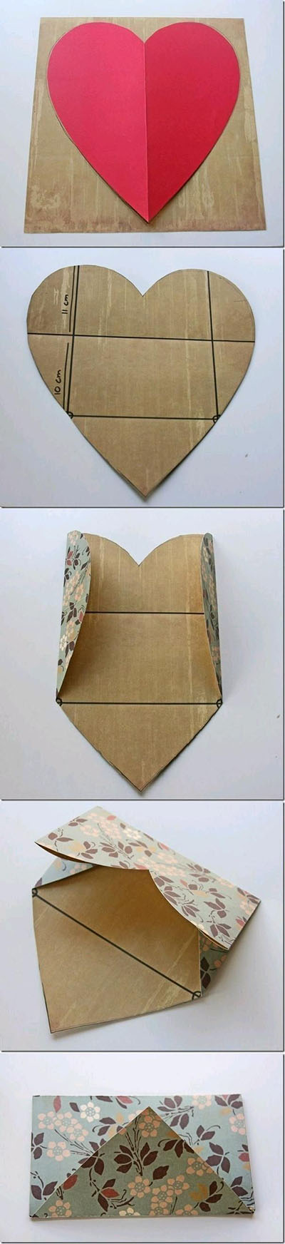 10 DIY Envelope from a Heart bfbb1e