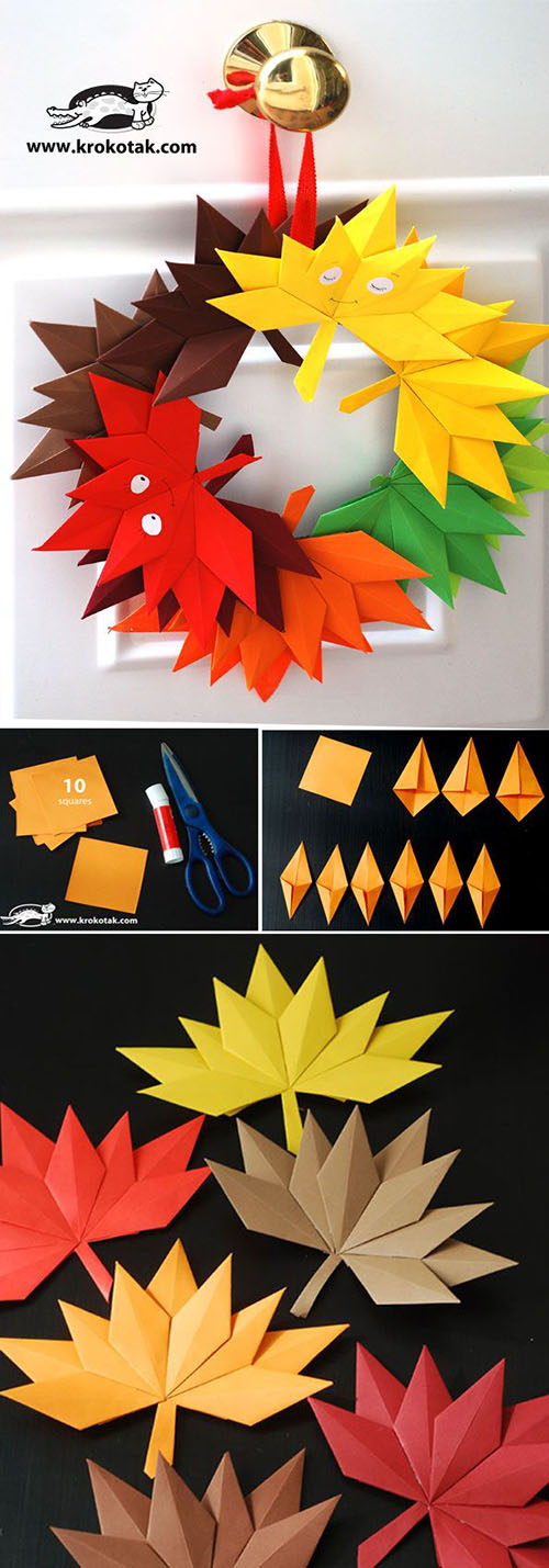 11 Autumn paper leaves 70680
