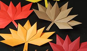 DIY beautiful autumn paper leaves