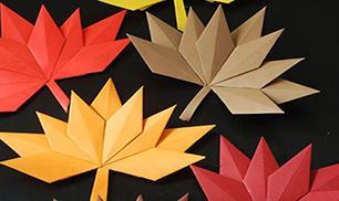 DIY beautiful autumn paper leaves