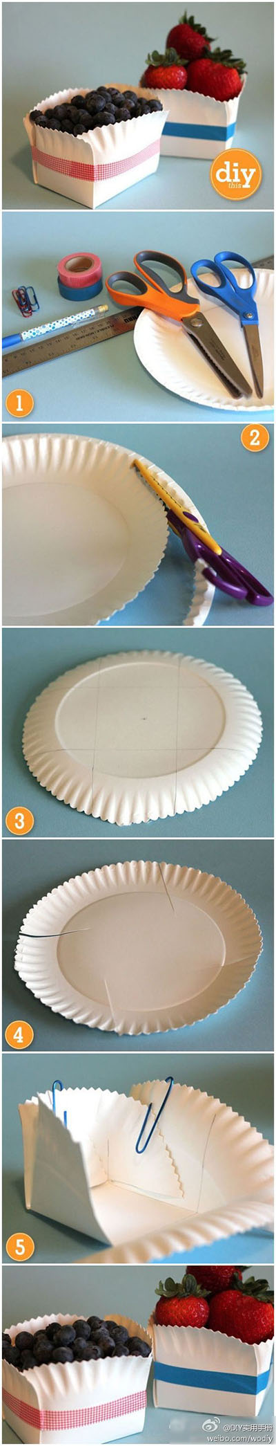 11 Make a gift box with a paper plate 6d673344ee