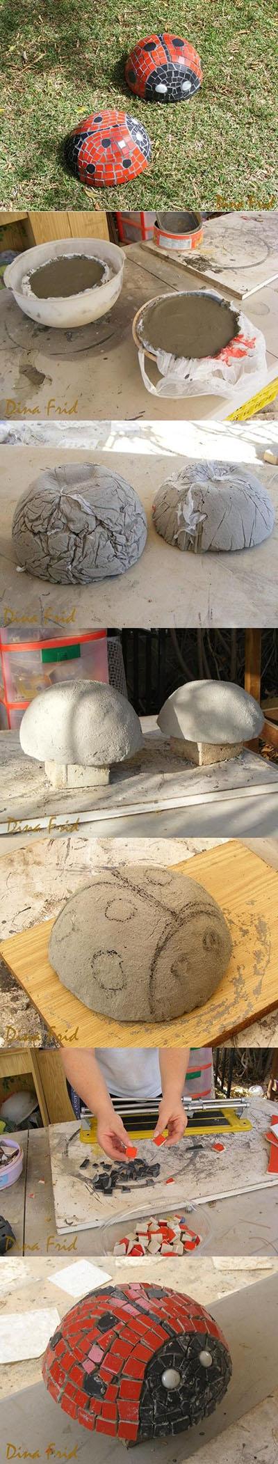 14 DIY Concrete Ladybug Tutorial 771cc1fa1