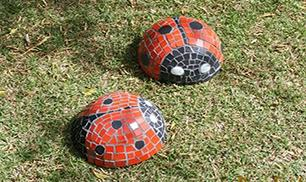 DIY Concrete Ladybug Tutorial