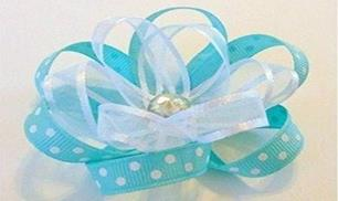 DIY Beautiful Blue Flower Bow