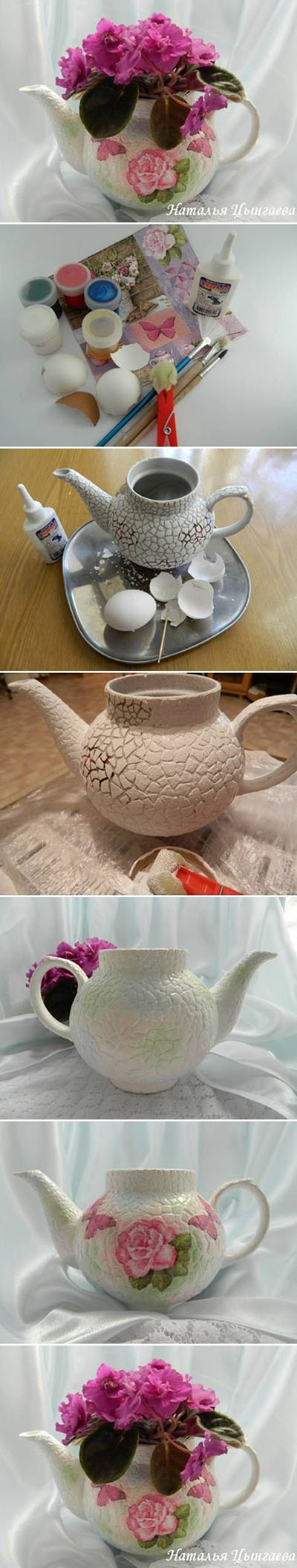 15 DIY Old Kettle Plant Pot with Eggshells c82aab