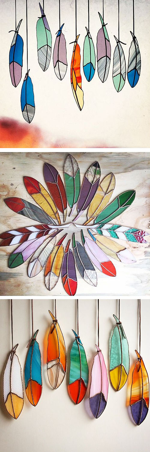 16 Stained glass feathers 2c9b4cf7
