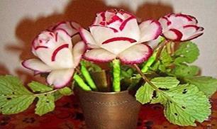 DIY Radish Flowers