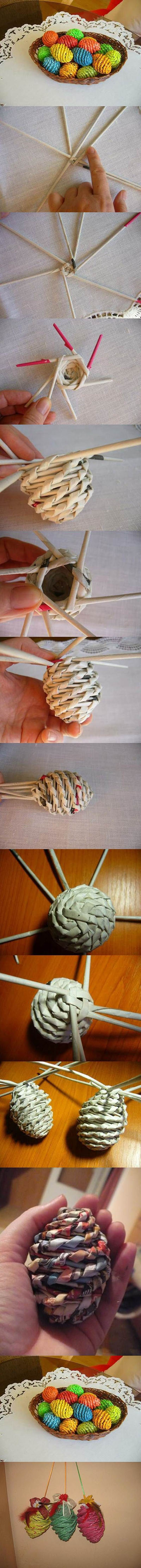 18 DIY Woven Paper Easter Eggs 099a