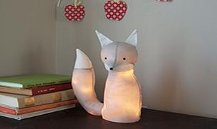 DIY fox lamp