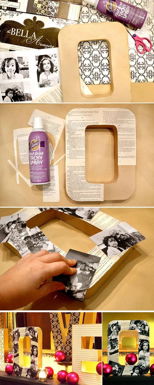 19 DIY Photo Letters 40c6