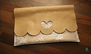 Easy leather and lace clutch tutorial