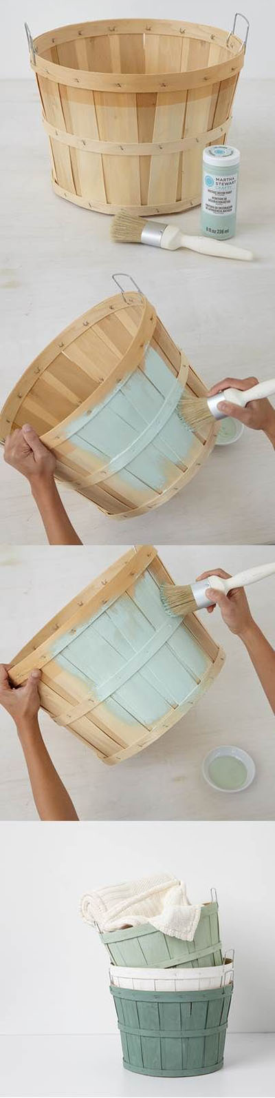 2 Customize orchard baskets with Vintage Decor Paint bcef