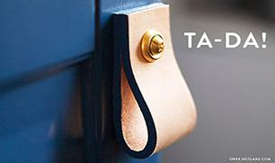 Easy steps to creating chic leather pulls